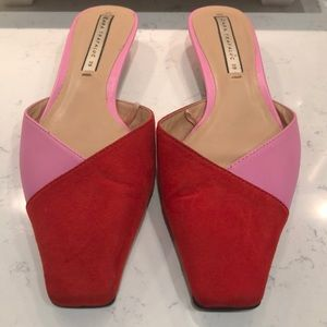 Zara color block mules